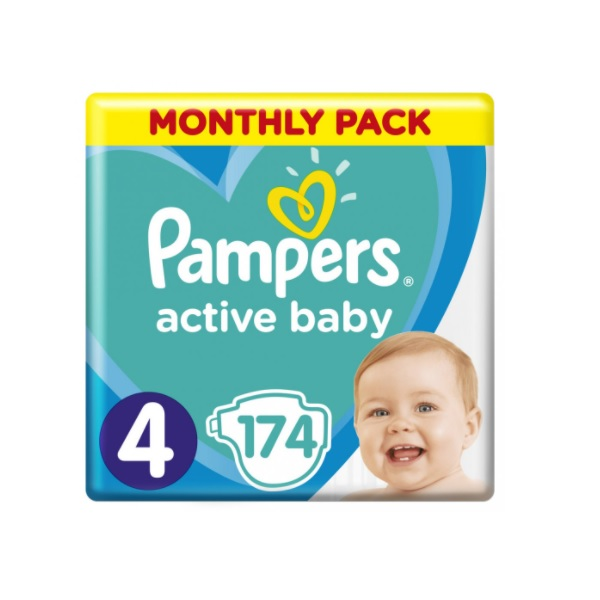 Pampers Active Baby-Dry 4 Maxi recenzie a test