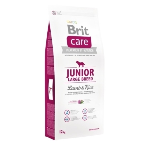 Brit Care Junior Large Breed Lamb & Rice recenzie a test
